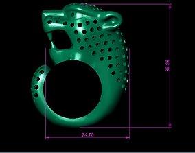 3D printable model PANTHER RING leopard