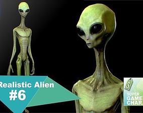 Realistic Alien 6 3D model