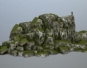 mosy 3D asset VR / AR ready rocks