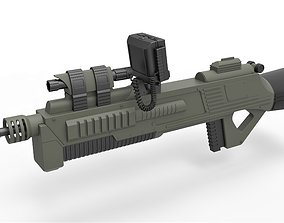 Rifle M-590 from Space Above and Beyond TV series 3D model