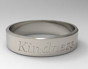 3D printable model Kindness Ring Platinum Polished