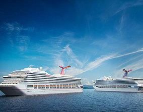 Cruise ship vizpeople 3D model
