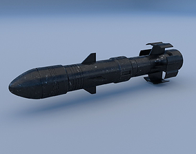 3D model low-poly Missile