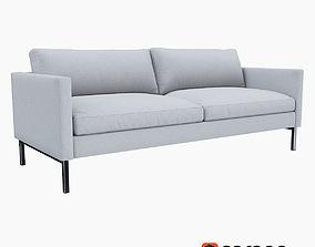 West Elm High Line Upholstered Sofa 3D model