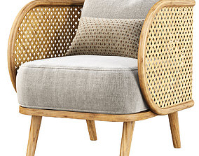 Carry rattan dining chair UE12 3D