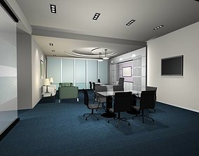 Luxury architectural Hall Lobby 3D model lobby