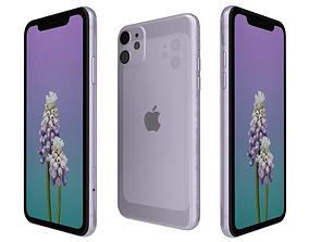 gloss 3D Apple iPhone 11 Purple