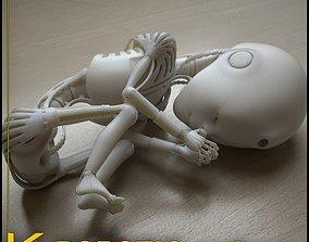 life 3D printable model Robot 01 embryo