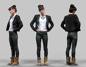 3D asset Office Girl
