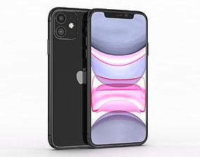 Apple iPhone 11 Black 3D model game-ready