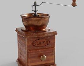 3D Old Vintage Coffee Grinder