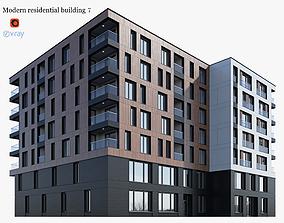 3D model Modern residential building 7