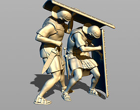 Two Roman legionary in defense 3D printable model