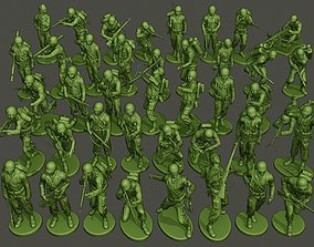 3D printable model American soldiers ww2 Bundle Pack
