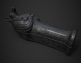 3D asset Anubis Sarcophagus statue