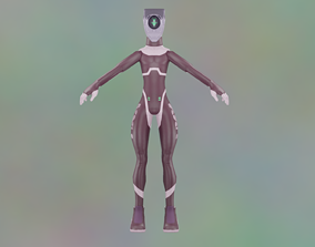 Sci-Fi Cyberpunk robot Model rigged Animated Game animated