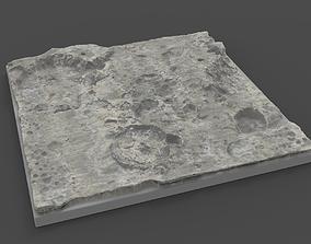 3D moon terrain hi poly