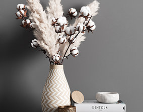 plant Decorative Set Pampas 3D