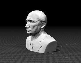 Portrait bust of Vladimir Putin 3D printable model