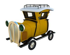 3D Cartoon Vintage Car Toon Old Car low-poly