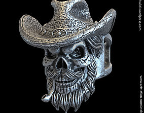 3D print model Skull gangster vol4 ring roberer
