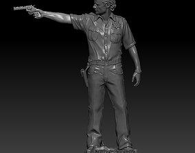 Rick Grimes The Walking Dead remix 3D print model