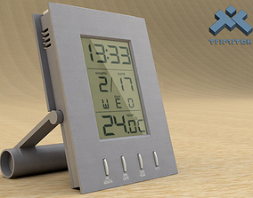 3D model Digital Alarm Clock - animated