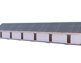 3D model Brick shed