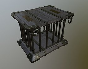 Medieval cage 3D model VR / AR ready