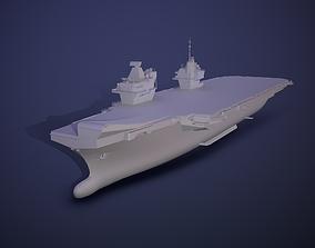 Queen Elizabeth class carriers 3D asset