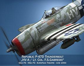 Republic P-47D Thunderbolt - Lt Col F S Gabreski 3D