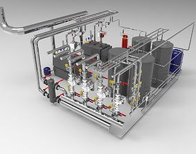 3D Industrial Boiler Room