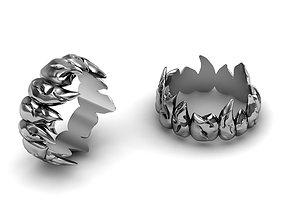 3D print model ring fangs teeth vampire