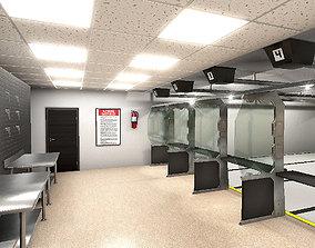 Shooting Range Interiors 3D asset
