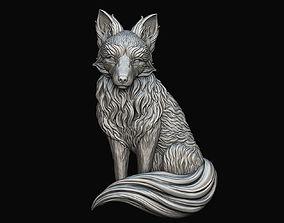 Sitting Fox Relief 3D printable model