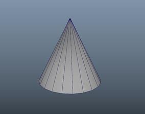 3D asset simpleCone1x2