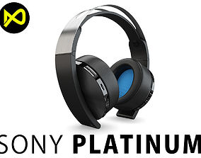 Sony Platinum Headset Wireless 3D model