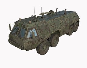 3D model Abandoned Truck 06