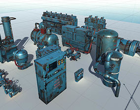 Machinery models pack VR / AR ready