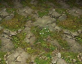 ground stone grass tile 22 3D model