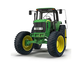 3D Tractor John Deere 7330 Rigged