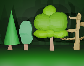 Trees Low Poly Asset Pack low-poly