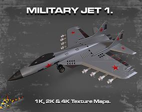 Military Jet 1 3D asset