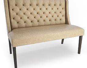 Lara Leather Bench 3D