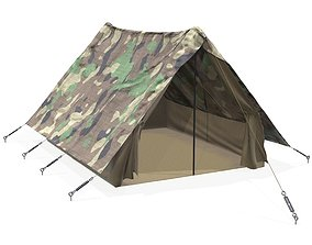 military tent 3D model PBR