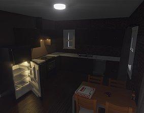3D asset realtime Simple Apartment Kitchen