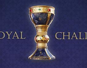 Royal Golden Chalice Mid-Poly 3D model