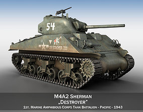 M4A2 Sherman - Destroyer 3D m4a2