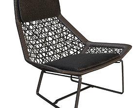 wicker-basket Outdoor wicker chair maia of Kettal 3D model