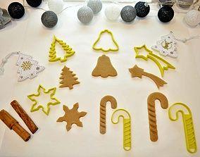 3D printable model Christmas Cookie Cutter Set 5 Pieces